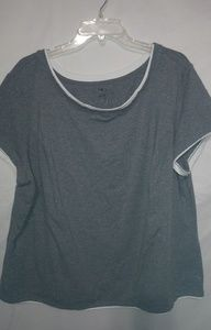 Athletic Works Gray Workout Top Sz 4X Plus